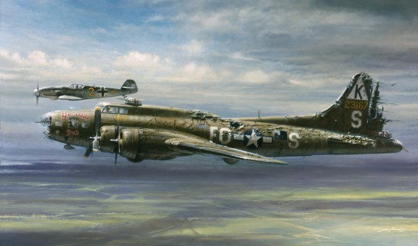 Commemorative painting of the Stigler/Brown encounter by John D. Shaw, courtesy Valor Studios.