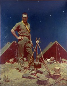 Scoutmaster - by Norman Rockwell